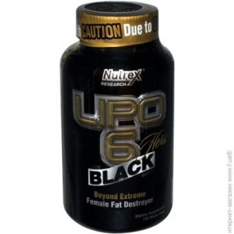 Жиросжигатель Nutrex Research Lipo-6 Black Hers, 120 капсул